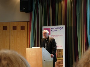 Cardinal Vincent Nichols at Marriage Care's Annual Conference in Staverton Park