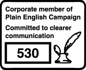 Corporate member of the Plain English Campaign logo