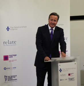 David Cameron at the Relationships Alliance Summit
